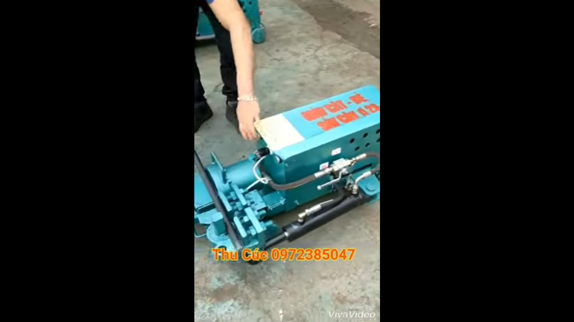 Máy cắt uốn liên hợp thủy lực 2 trong 1 chạy điện 220V hàng Việt Nam